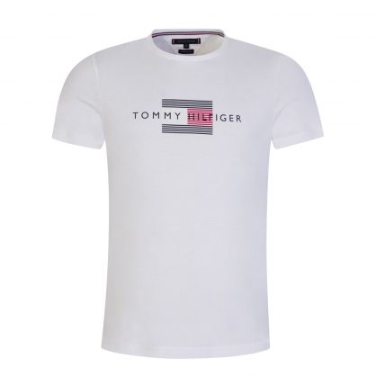 White Lines Graphic T-Shirt