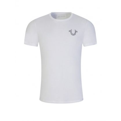 White Rhinestone Horseshoe T-Shirt