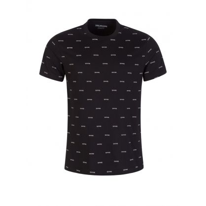 Black Allover Logo T-Shirt