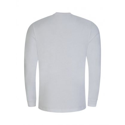 White Long Sleeve Logo T-Shirt