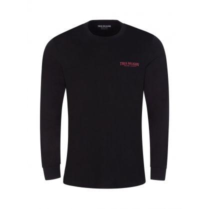 Black Long Sleeve Arch Logo T-Shirt