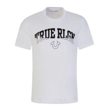 White Arch Logo Print T-Shirt