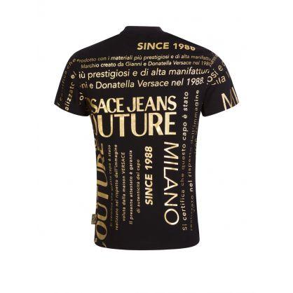 Black Foil-Print Logo T-Shirt