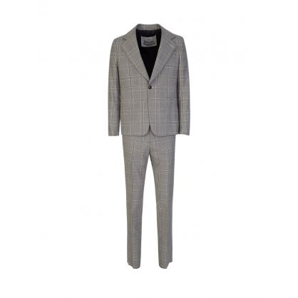 Grey Classic Check Trousers