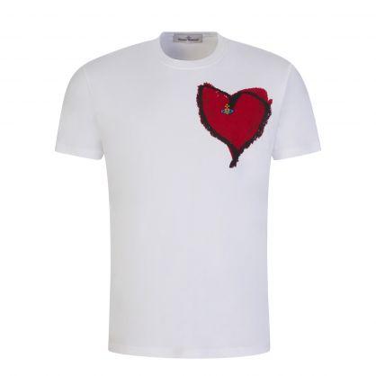 "White ""Orb of My Heart"" T-Shirt"
