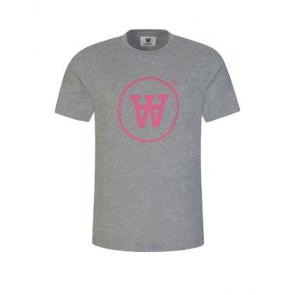 Grey/Pink Ace T-Shirt