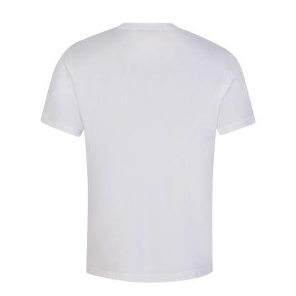 White/Orange Double A Ace Oversized Logo T-Shirt