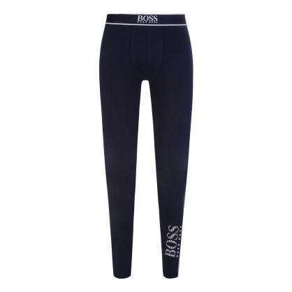Dark Blue Bodywear Cotton-Stretch Long Johns