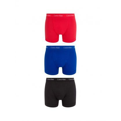 Blue/Red/Black Trunks 3-Pack