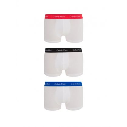 White Low Rise Trunks 3-Pack