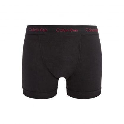 Black Classic-Fit Cotton Stretch Trunks 3-Pack