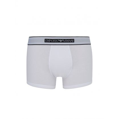 White New Icon Band Cotton Trunks