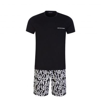 Black Logo Loungewear Set