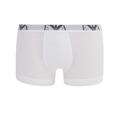 White Stretch Cotton Trunks 3-Pack
