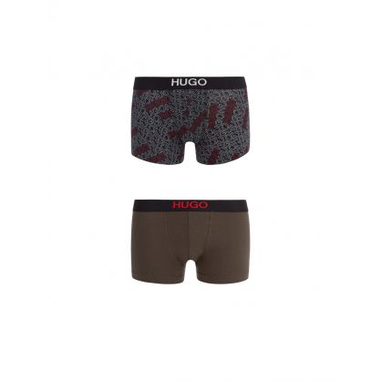 Black/Green Brother 2-Pack Boxers