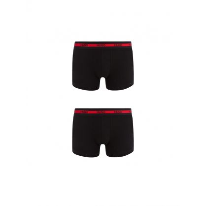 Black Low Rise Trunks Twin Pack