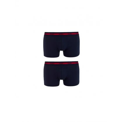 Navy Cotton Stretch Boxer Twin Pack
