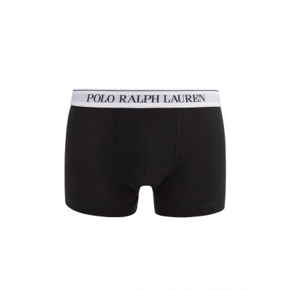 Black/White Stretch Cotton Trunks 3-Pack