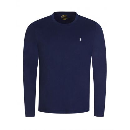Navy Long Sleeve Sleep T-Shirt