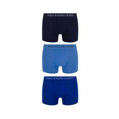 Navy/Blue Classic Trunks 3-Pack