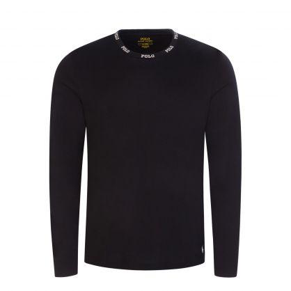 Black Logo Collar Sleep T-Shirt