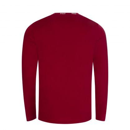 Red Logo Collar Sleep T-Shirt