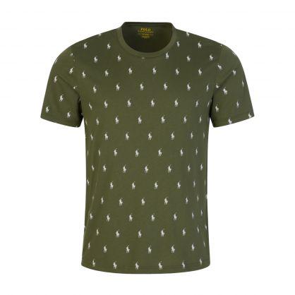 Green Allover Logo T-Shirt