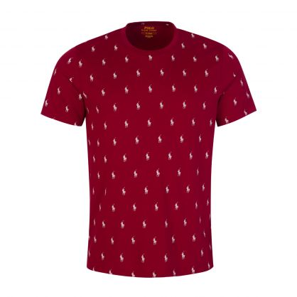 Red All-Over Pony Sleep T-Shirt