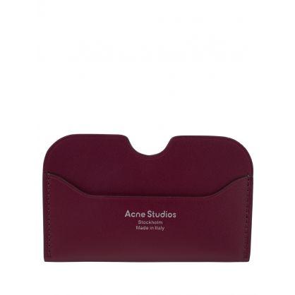 Burgundy Elmas S Card Holder