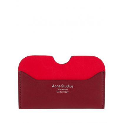 Burgundy/Red Soft Leather Card Holder