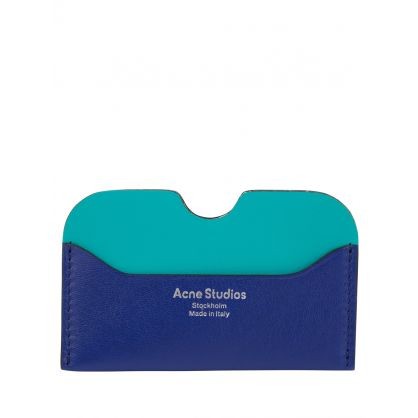Blue/Aqua Soft Leather Card Holder