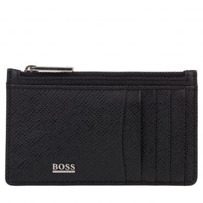 Black Signature CC Z Pouch Wallet