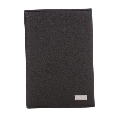 Black Italian Leather Crosstown Passport Holder