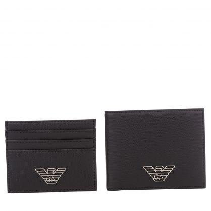 Black Bi-Fold & Card Holder Gift Set