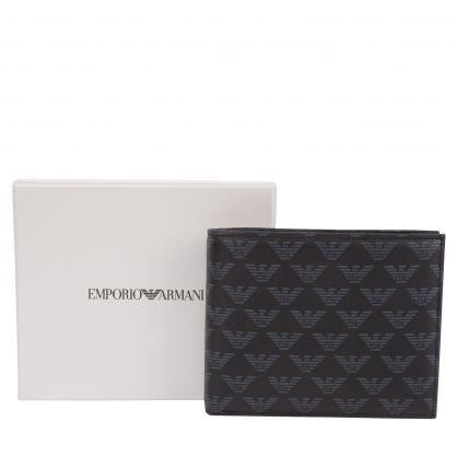 Black Eagle Monogram Bi-Fold Wallet