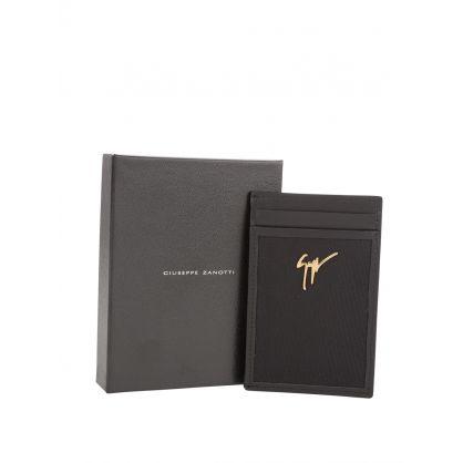 Black Leather Albert Underground Card Holder