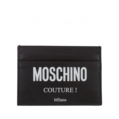 Couture Black Logo-Print Card Holder