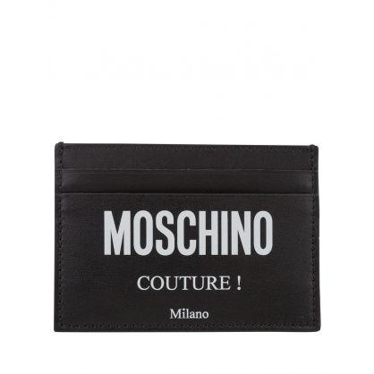 Couture Black Logo-Print Card Holder