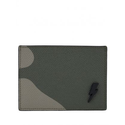 Camo Leather Card Holder
