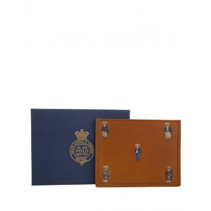 Tan Polo Bear Leather Card Case