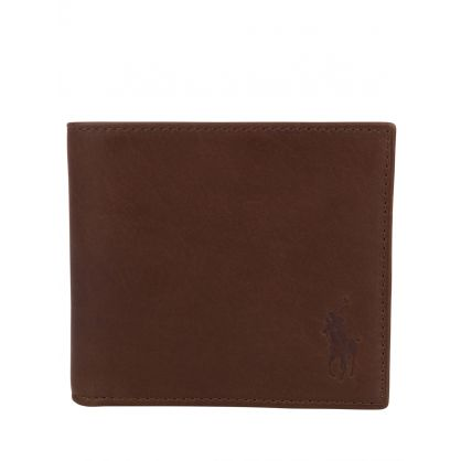 Brown Camo Leather Billfold Wallet