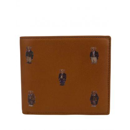 Tan Polo Bear Leather Billfold Wallet