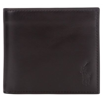 Black Smooth Leather Coin Wallet