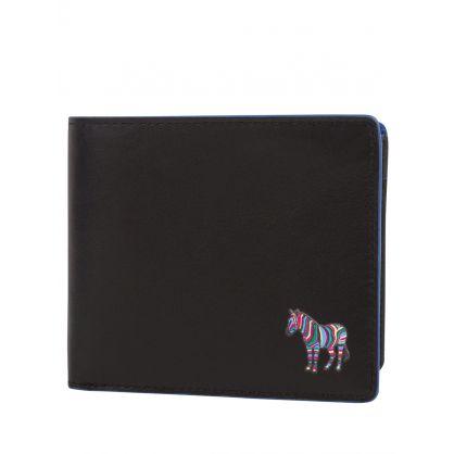 Black Zebra Billfold Coin Wallet