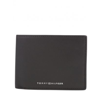 Black Metro Leather Recycled Lining Wallet