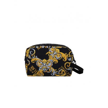 Black Baroque Print Wash Bag