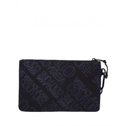 Black Logo Clutch Bag