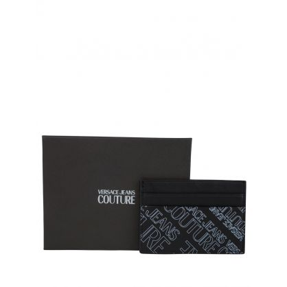 Black Leather Logo Cardholder