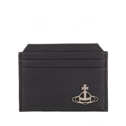 Black Slim Leather Kent Card Holder