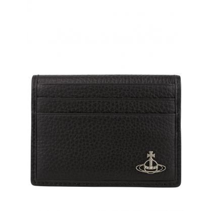 Black Leather Milano Man Card Holder